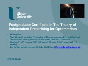 Flyer Postgraduate Certificate in the theory of Independent Prescribing - NIOS