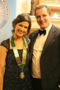 Faith and Sam Mills at Gala Ball - NIOS