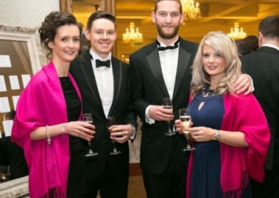 Michael and Shelley Foster and Gareth and Claire Savage at Gala Ball - NIOS