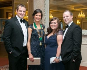 Sam and Faith Mills and Helen and Johnny Faulkner at Gala Ball - NIOS