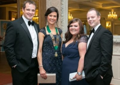 Sam and Faith Mills and Helen and Johnny Faulkner at Gala Ball - NIOS