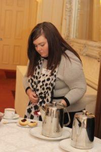 Helen Rocks at Sunday morning coffee break - NIOS