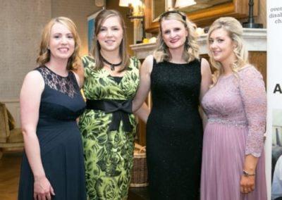 Hannah Gibson Louise Forsythe Maria Napier Eaine Kirkpatrick at Gala Ball - NIOS